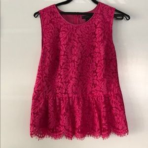 Jcrew lace peplum top in excellent condition